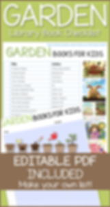 Garden Books Editable Library Checklist.