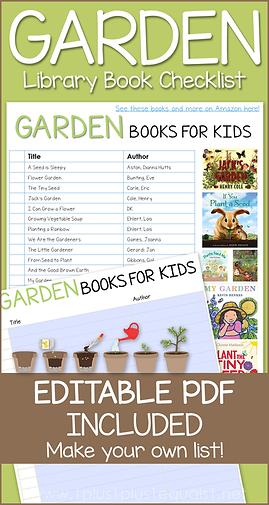 Garden Books Editable Library Checklist.