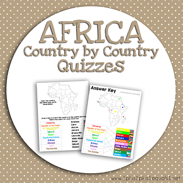 AFRICA Country by Country QUIZZES