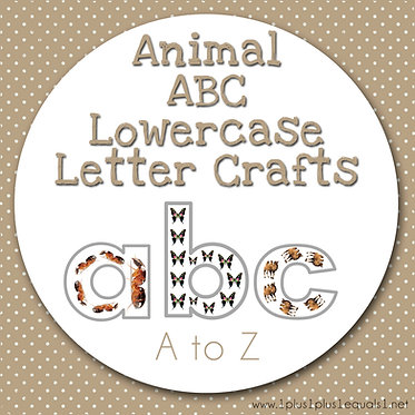 Animal ABC Lowercase Letter Crafts