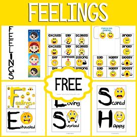 Feelings Early Childhood Printable Pack.