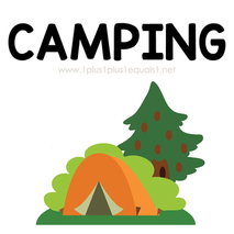Camping Theme Printables and Ideas for K