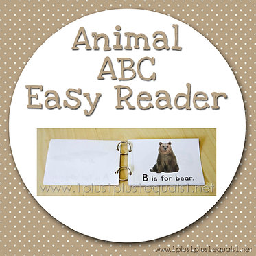 Animal ABC Easy Reader