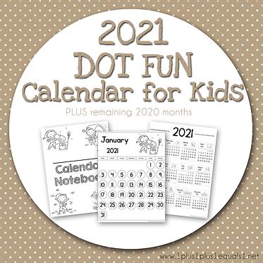 2020-2021 Dot Fun Calendar