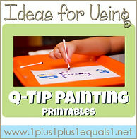 Ideas for Using Q Tip Painting Printable