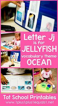 Tot School Printables J is for Jellyfish