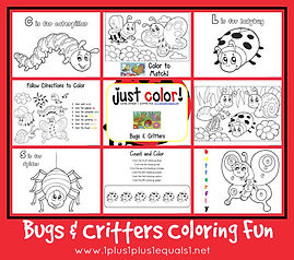 Bugs and Critters Coloring Printables.jp
