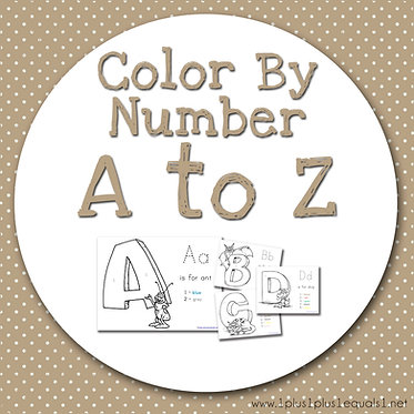 Color by Number A to Z