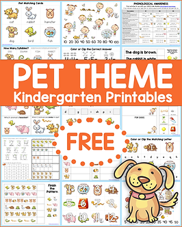 Pet Theme Kindergarten Printables .png