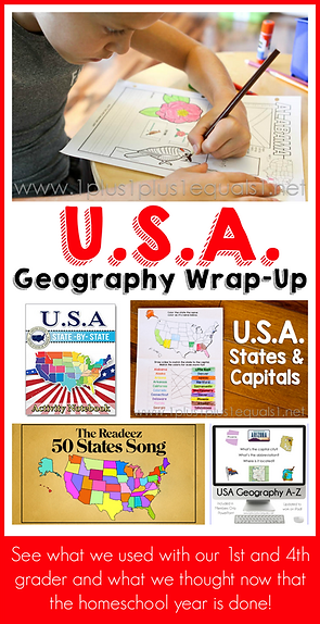 USA Homeschool Geography with Elementary