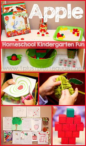 Apple Theme Homeschool Kindergarten Fun.
