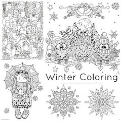 Winter Doodle Coloring Pages.jpg