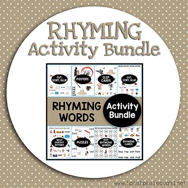 Rhyming Words Activity Bundle