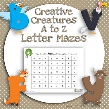 Creative Creatures A to Z Letter Mazes