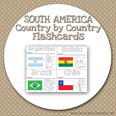 SOUTH AMERICA Country by Country FLASHCARDS