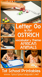 Tot School Printables O is for Ostrich.j