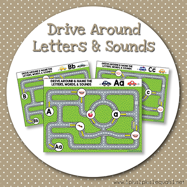 Drive Around Letters and Sounds