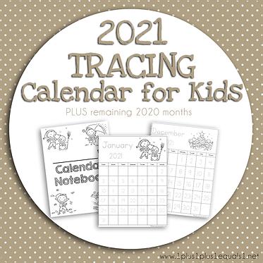 2020-2021 Tracing Calendar