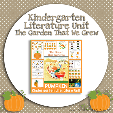 Pumpkin Kindergarten Literature Unit