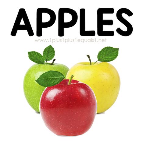Apples Theme Printables and Ideas for Ki