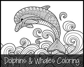 Dolphins and Whales Coloring Pages fb.jp