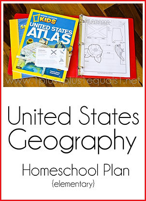 United States Geography Homeschool Plan