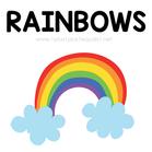 Rainbow Theme Printables and Ideas for K