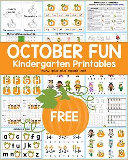October Fun Kindergarten Printables .png