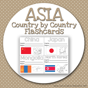 ASIA Country by Country FLASHCARDS