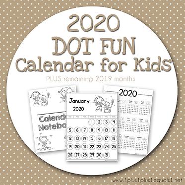 2020 Dot Fun Calendar