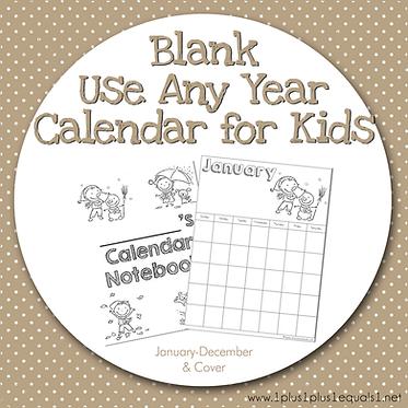 Blank Calendar for Kids