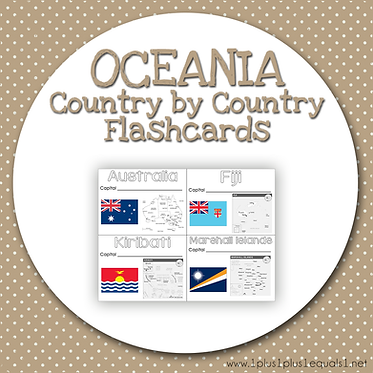 OCEANIA Country by Country FLASHCARDS