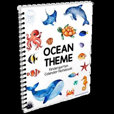 Kindergarten Calendar Notebook - OCEAN THEME