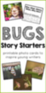 Bugs Story Starters Printable Photo Card