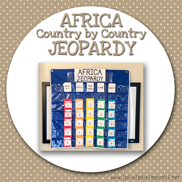GROUP USE: AFRICA Country by Country Jeopardy
