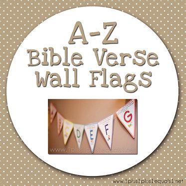Bible Verse Wall Flags A-Z
