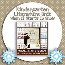 Kindergarten Literature Unit When It Starts To Snow.png