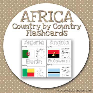 AFRICA Country by Country FLASHCARDS