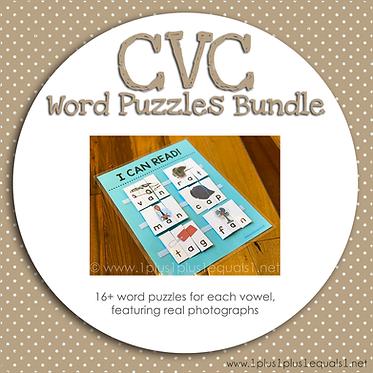 CVC Word Puzzle Bundle