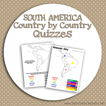 SOUTH AMERICA Country by Country QUIZZES