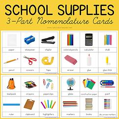 School Supplies 3 Part Nomenclature Cards.png