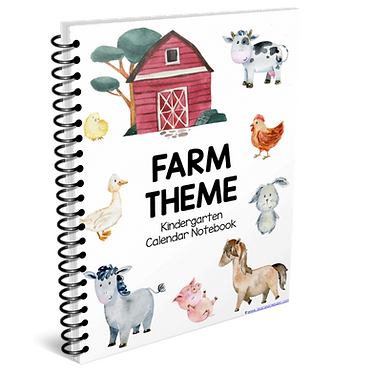Kindergarten Calendar Notebook - FARM THEME