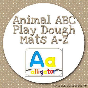 Animal ABC Play Dough Mats