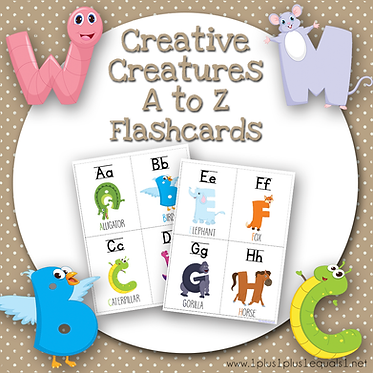 Creative Creatures A to Z Flashcards