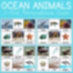 Ocean Animals 3 Part Nomenclature Cards.