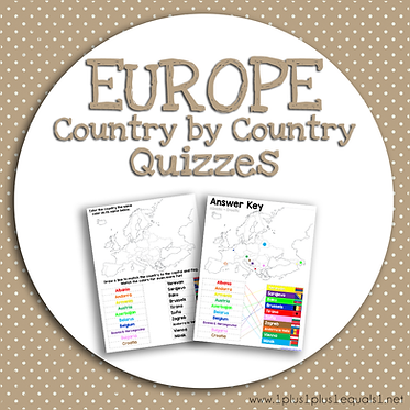 EUROPE Country by Country QUIZZES