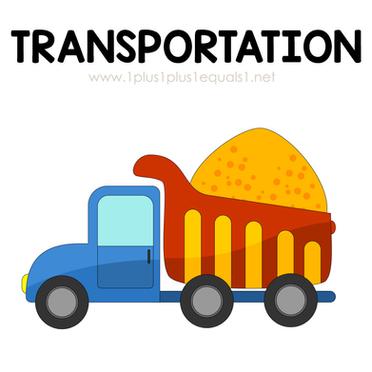 Transportation Theme Printables and Idea