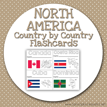 NORTH AMERICA Country by Country FLASHCARDS