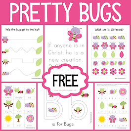 Pretty Bugs Early Childhood Printable Pa