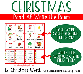 Christmas Read and Write the Room Horizo